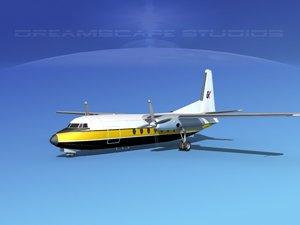 3d model fokker f-27 air