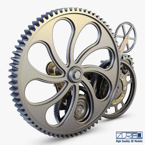 gear mechanism v 7 3d max