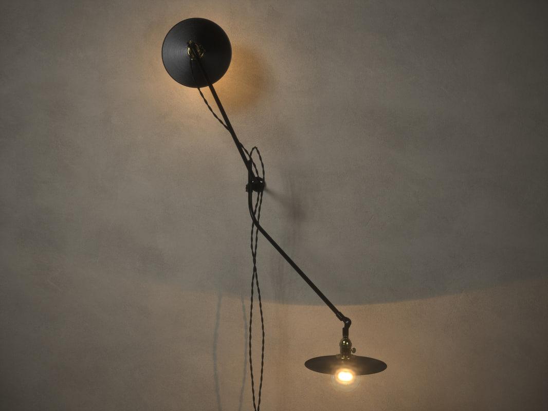 workstead bent wall lamp 3d obj