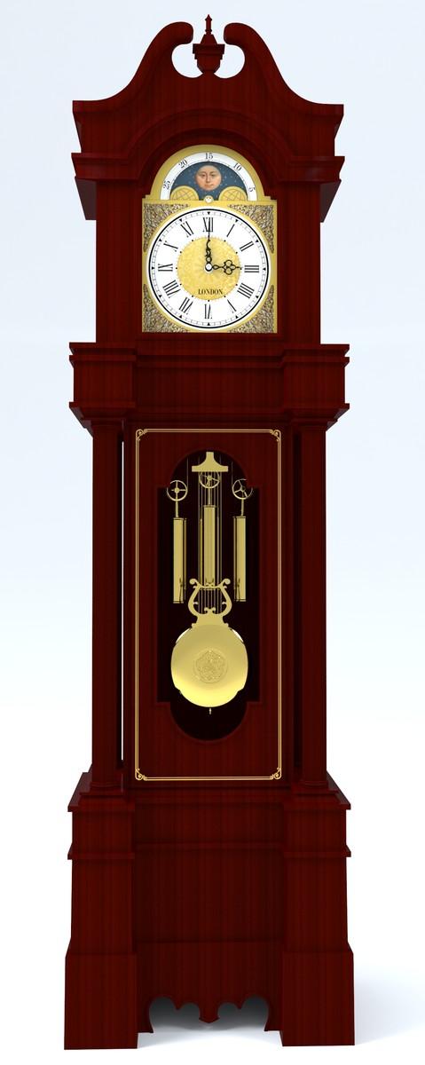grandfather clock 3d max