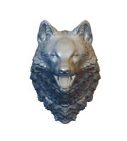 Solid wolf head