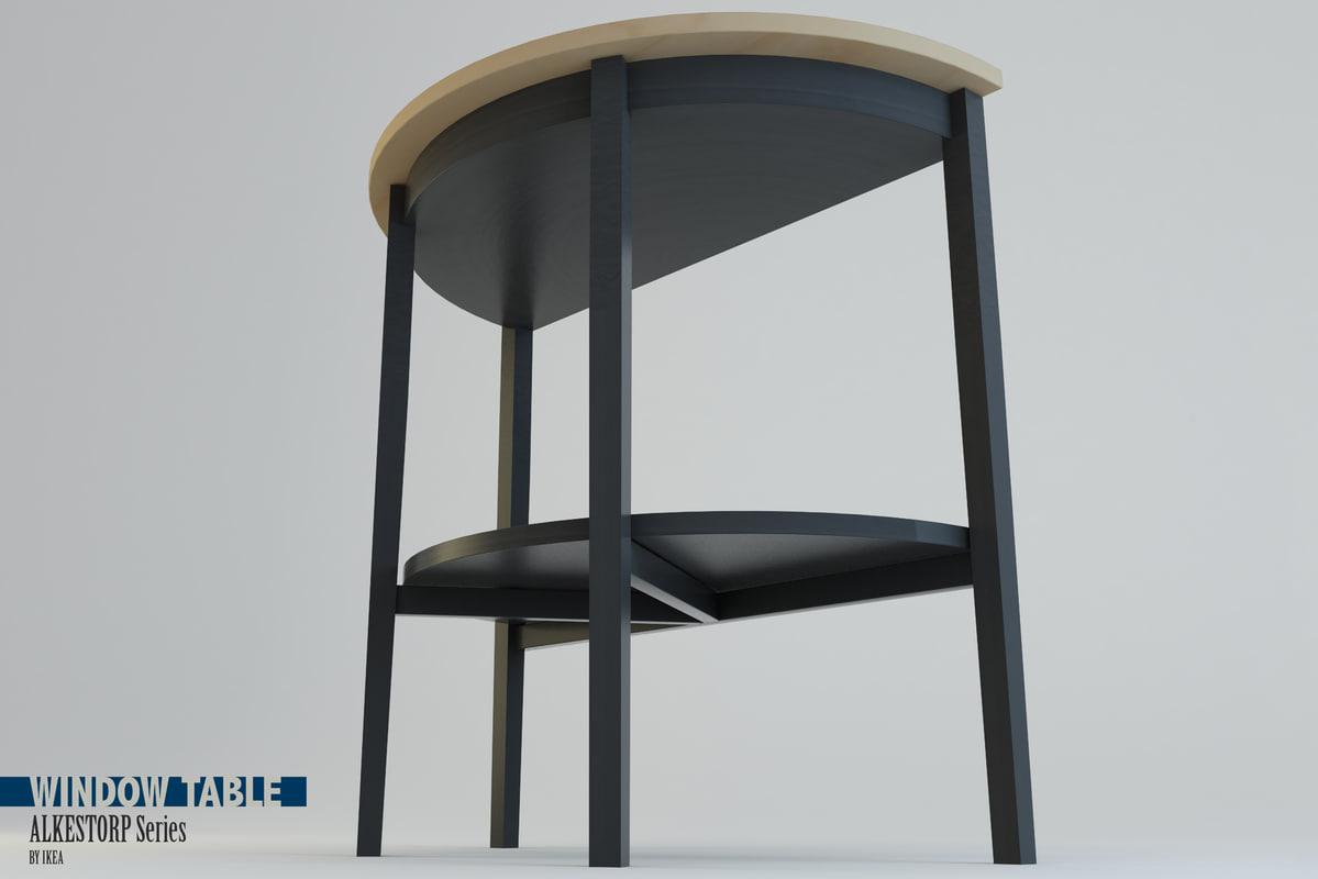 window table arkelstorp set 3d 3ds