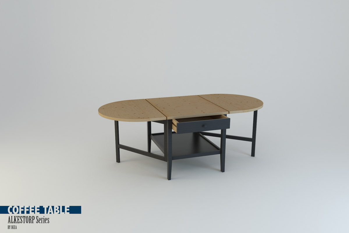 3d Model Of Coffee Table Arkelstorp Set