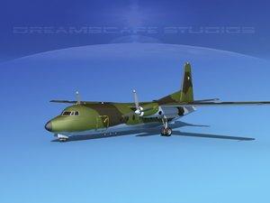 3d model of fokker f-27 air