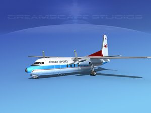 max fokker f-27 airliner