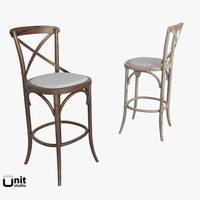 Madeleine Armless Stool by Restoration Hardware