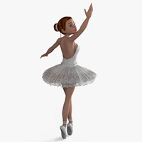 Ballerina Rigged Character