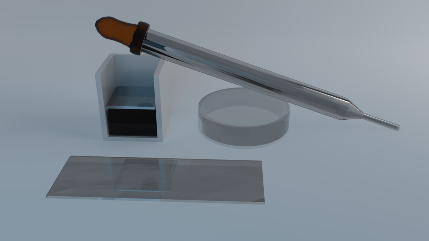 low-poly microscopic - x