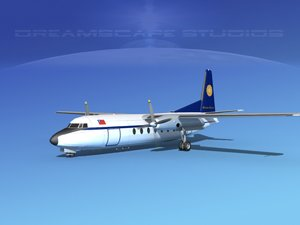 ma fokker f-27 airliner