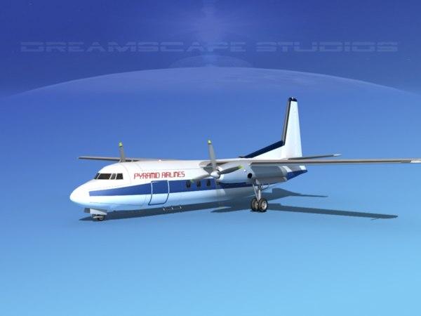 3ds fokker f-27 airliner