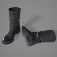3d fbx leather boots