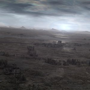 landscape horizon terrain 3d model