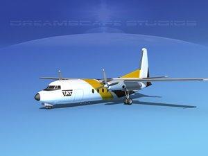 fokker f-27 3 3d model