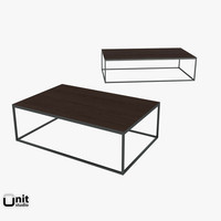 metal parquet coffee table 3ds