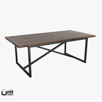 restoration hardware table 3d 3ds