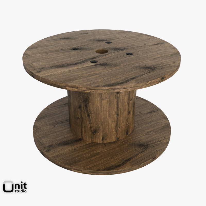 reel wood industrial 3d 3ds