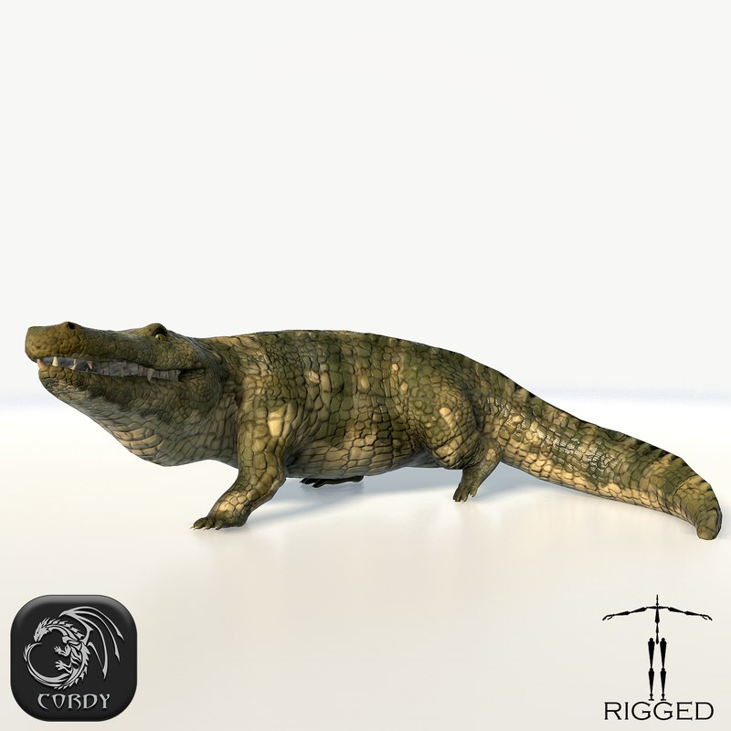 crocodile rig animation 3ds