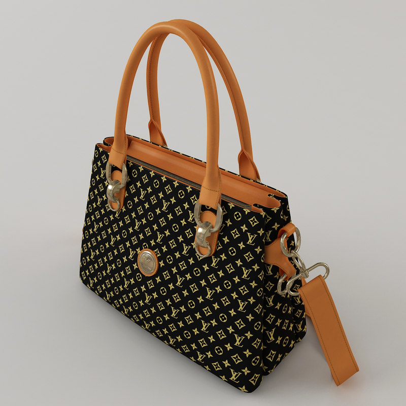 leather handbag trendy 3d model