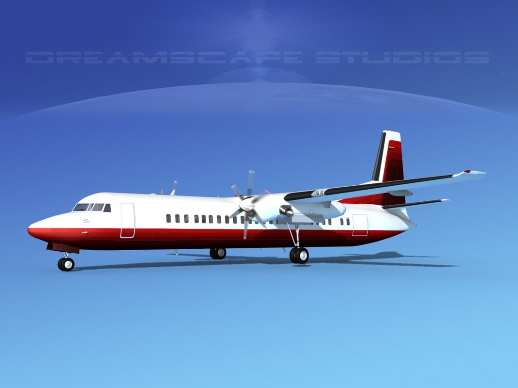 3d max fokker aircraft
