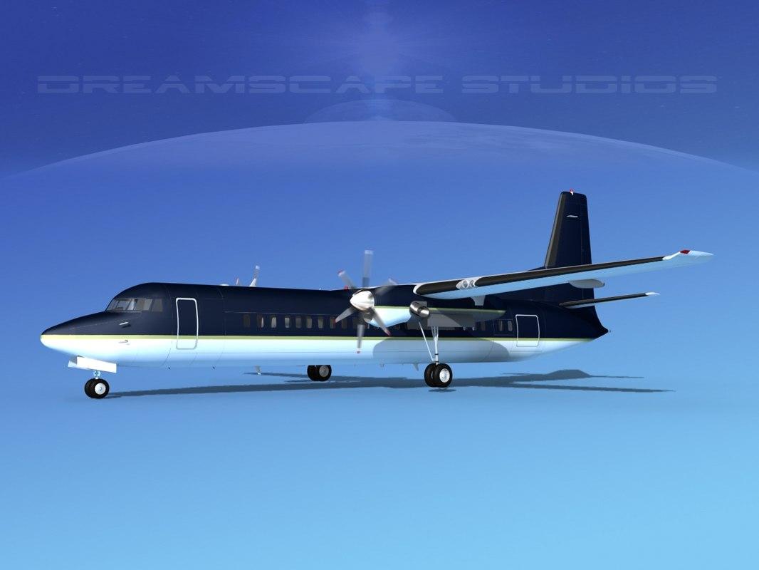 3d model fokker aircraft
