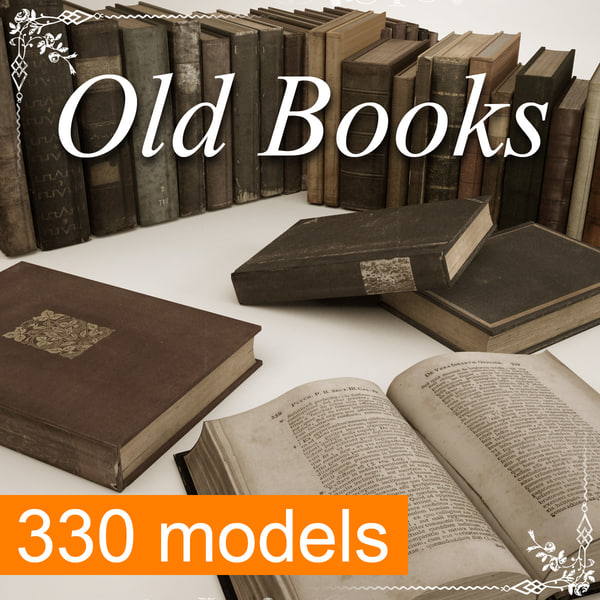 old books mega 330 3d model