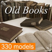 old books mega 330 3d model