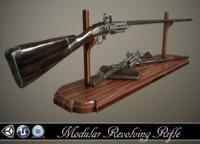 3d rifle revolver model