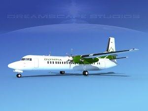 fokker aircraft 3d max