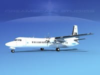 3d model of fokker aircraft