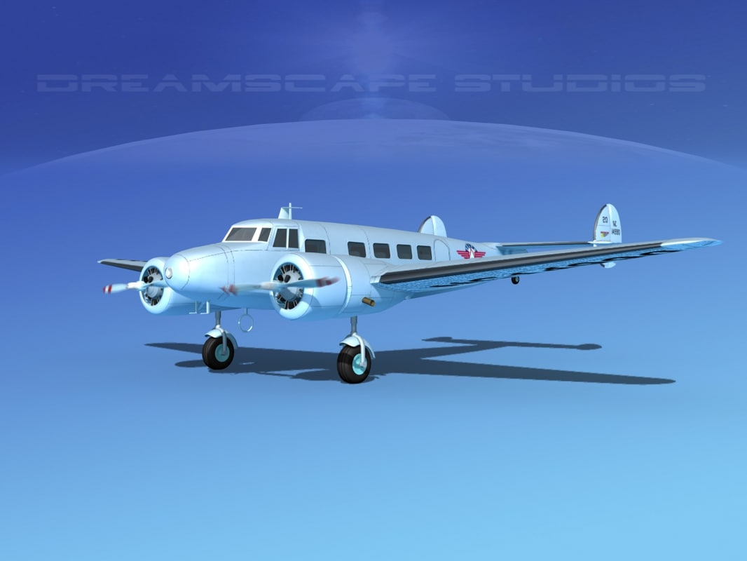 3d model of propellers lockheed l10 electra