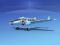 propellers lockheed l10 electra 3d max