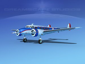 propellers lockheed l10 electra 3d model