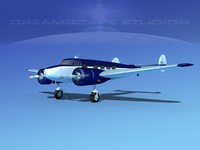 3d model propellers lockheed l10 electra
