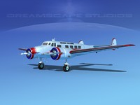 propellers lockheed l10 electra 3d 3ds