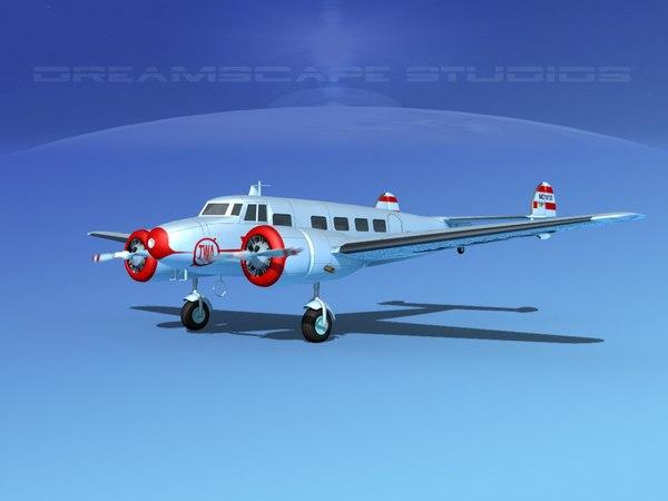 propellers lockheed l10 electra obj