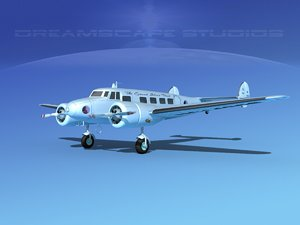 3d propellers lockheed l10 electra model