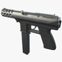 tec-9 pistol 3d model