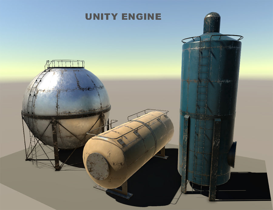3d gaz tank
