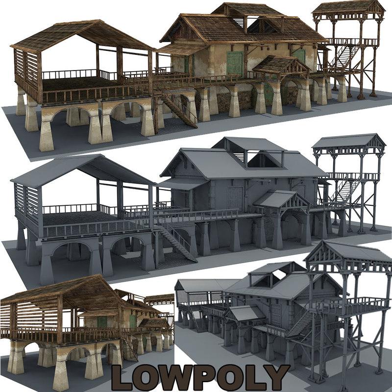 3d model farm building 8