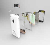 iphone 3g 3d model