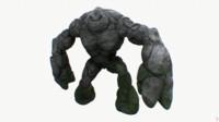 Stone golem RIGGED