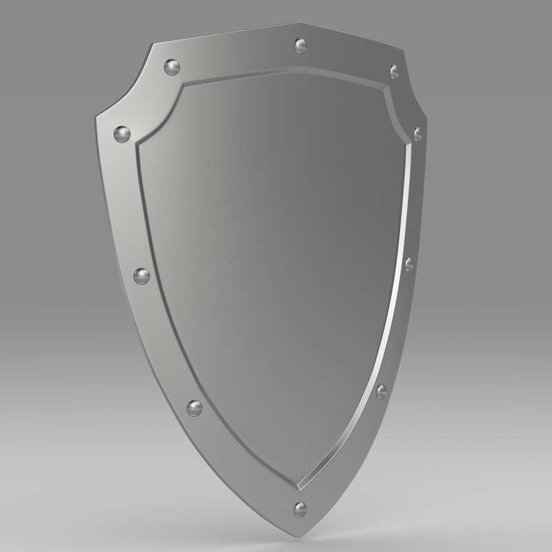 3d shield protect weapon model
