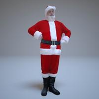 3d santa standing people human