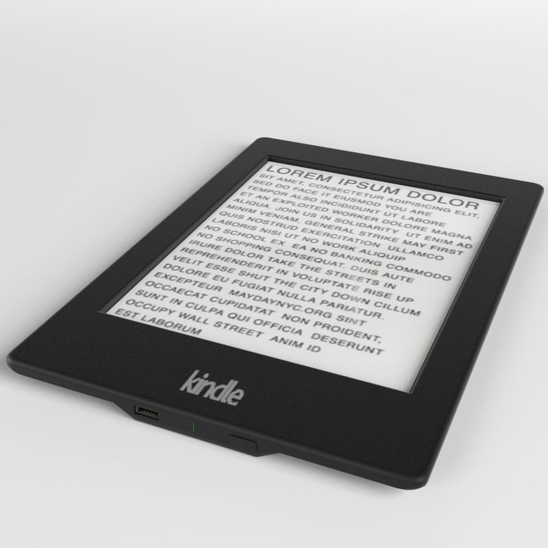 3d amazon kindle paperwhite ebook