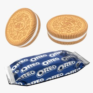 3d realistic oreo cookie snack