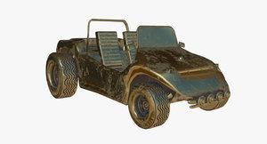 golden buggy geep - 3d obj