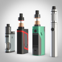 Electronic cigarettes, four popular models, vray
