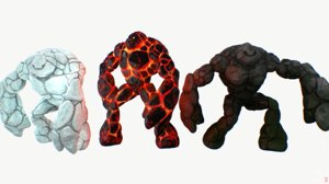 golems pack rigged 3d model