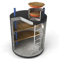 bunker type lego 3d model