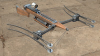 crossbow bow 3d max